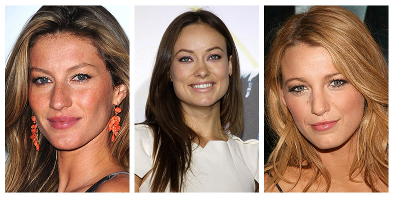 Gisele Bundchen, Olivia Wilde and Blake Lively show how to do the no makeup look for a natural vibe. Photo: Shutterstock.com