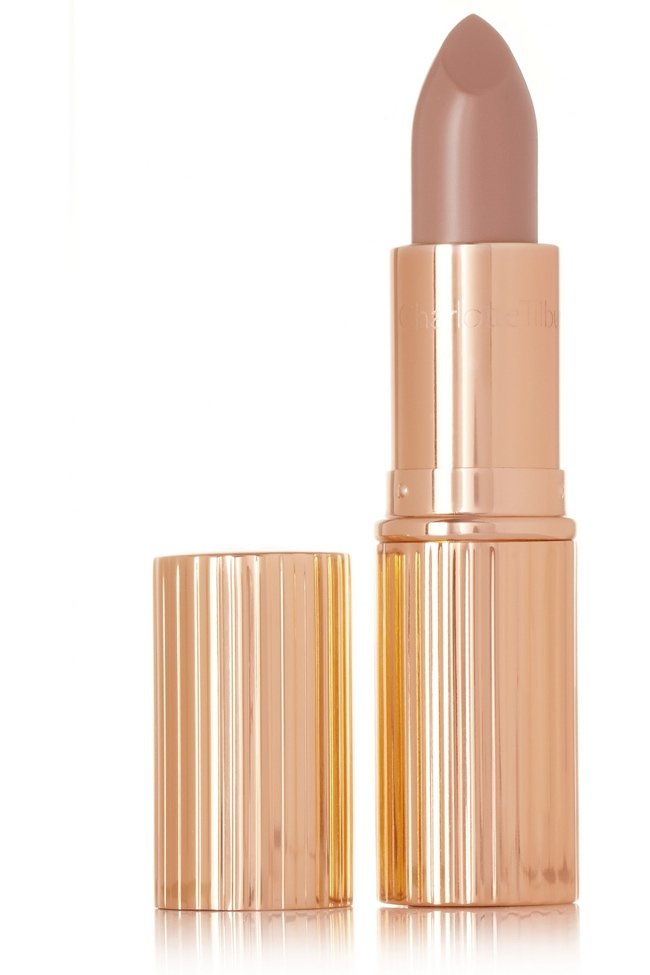 Go for a nude lipstick shade with Charlotte Tilburry's K.I.S.S.I.N.G. Lipstick in 'Nude Kate'.
