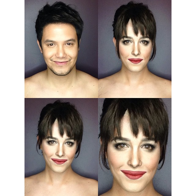 Filipino makeup artist  Paolo Ballesteros transforms into 'Fifty Shades of Grey' star Dakota Johnson