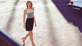 The new season of DVF brings the 'Leonora' dress in white and black.