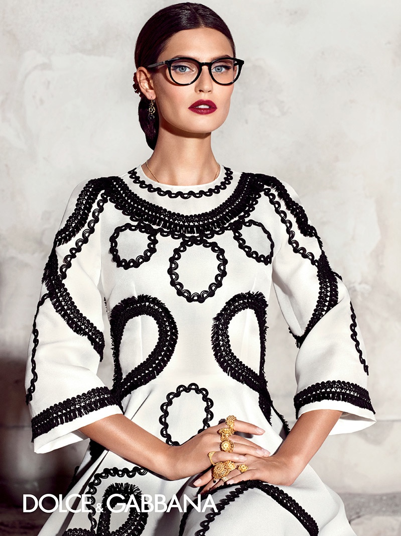 b6be4f6b0ea Bianca Balti poses for Dolce   Gabbana spring-summer 2015 eyewear campaign.
