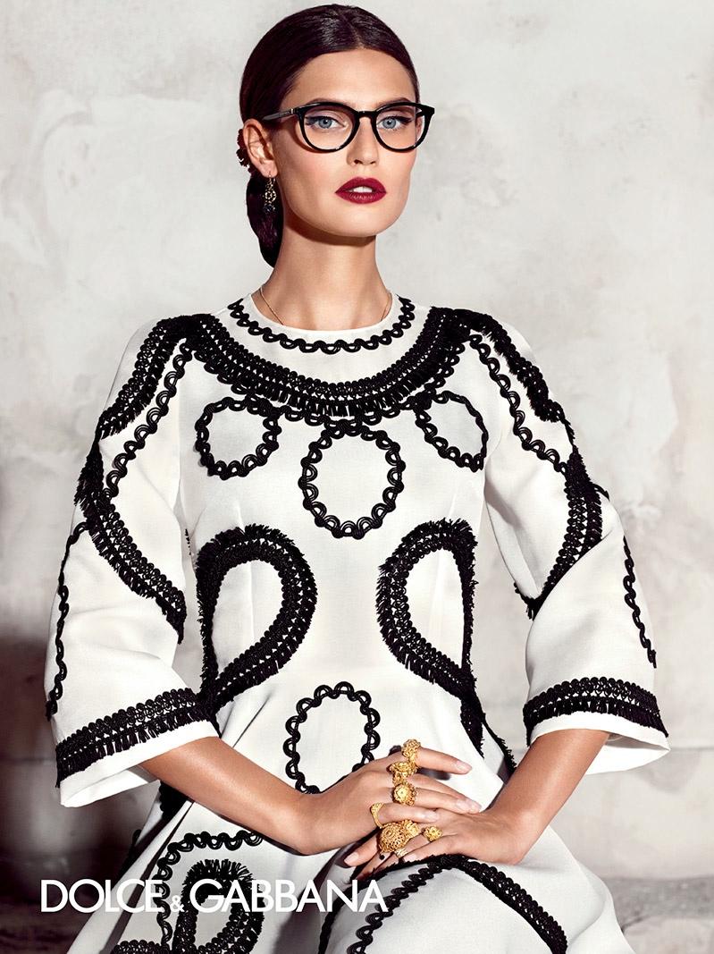 Bianca Balti poses for Dolce & Gabbana spring-summer 2015 eyewear campaign.