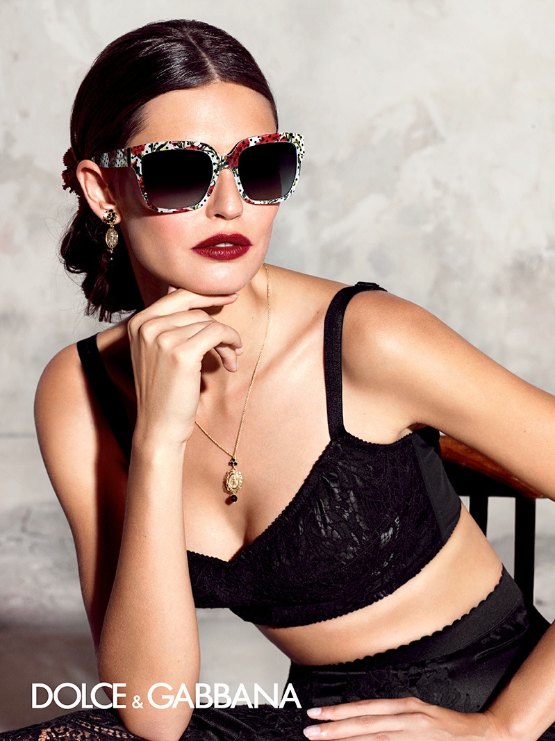 The advertisements feature Dolce & Gabbana's signature eyewear styles.