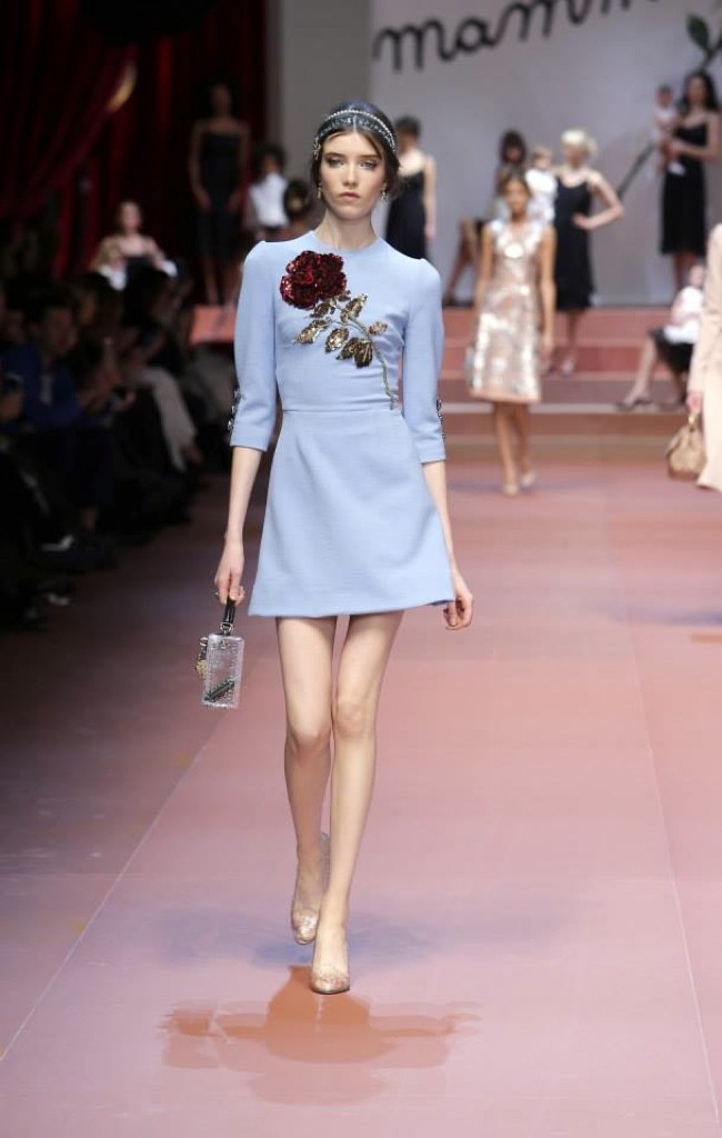 Dolce Amp Gabbana Fall 2015 Motherly Dress Eternal Style