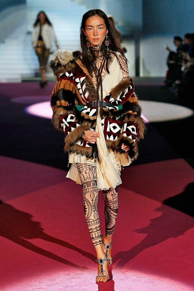A look from DSquared2's fall-winter 2015 collection