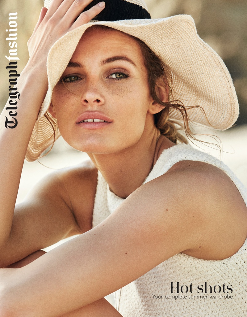 Model Edita Vilkeviciute lands on the cover of The Sunday Telegraph's fashion supplement for March 2015.