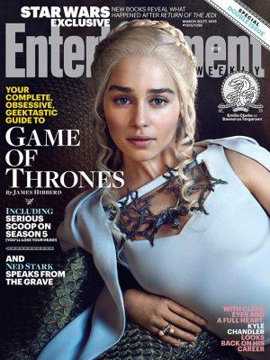 Daenerys (Emilia Clarke) &  Arya (Maisie Williams) Cover Entertainment Weekly 'Game of Thrones' Issue
