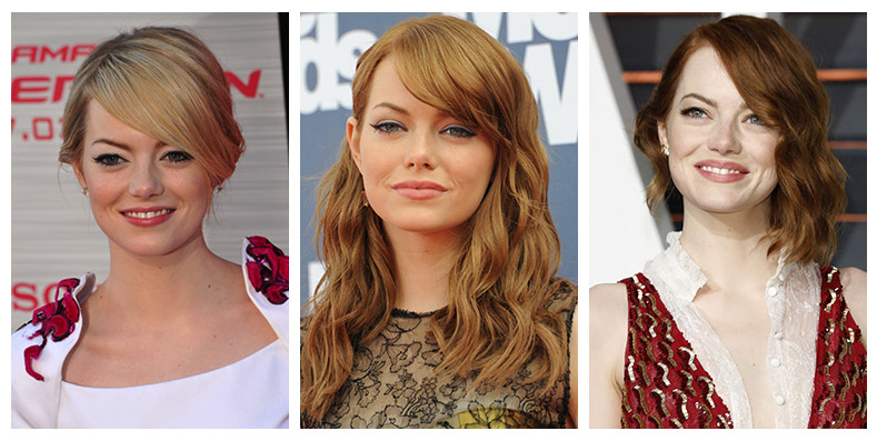 From blonde to red, Emma Stone has had many different hair colors through the years. Images: Shutterstock.com