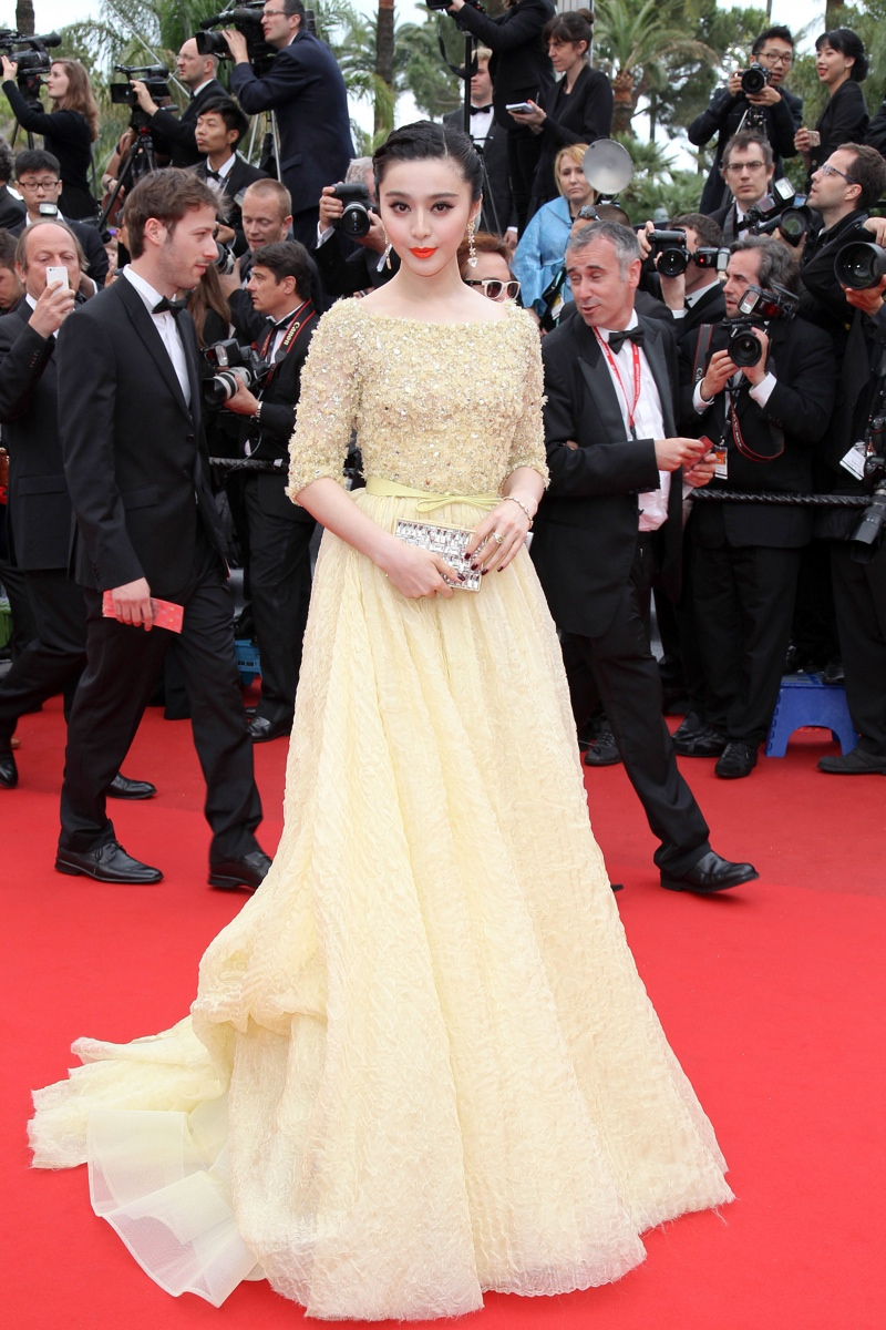 Fan Bingbing was swathed in a yellow Elie Saab gown at the 66th Annual Cannes Film Festival. Photo: Pixplanete / PR Photos