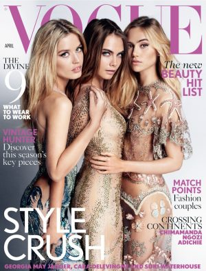 Georgia, Cara + Suki Are Nearly Naked & Covered in Sequins