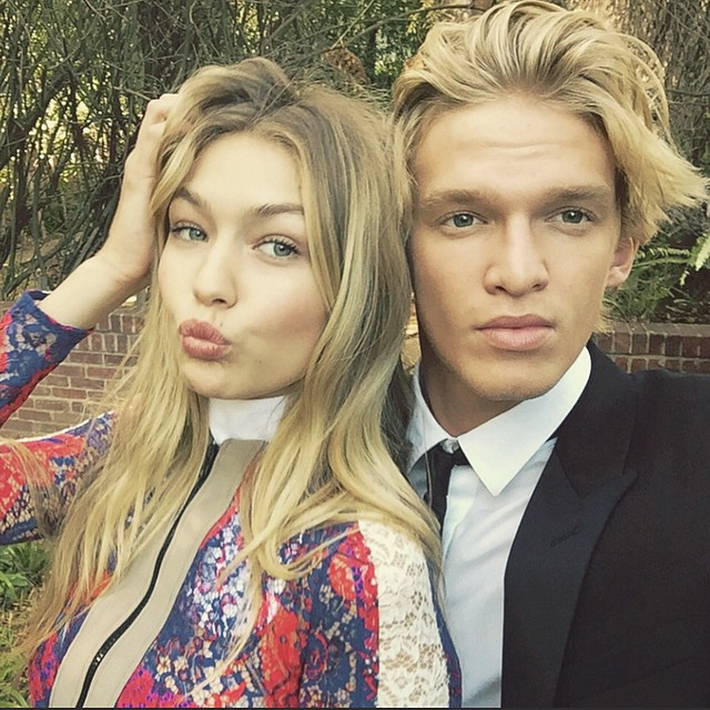 Gigi Hadid and Cody Simpson. Photo via Instagram.