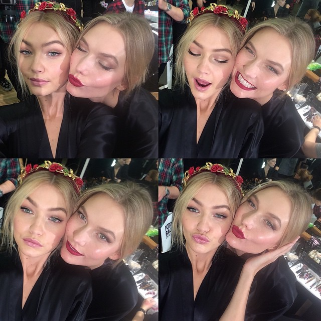 GET YOUR BFFs: There is nothing wrong with sharing the spotlight. Take a selfie with your friends like models Karlie Kloss and Gigi Hadid did with this photo.