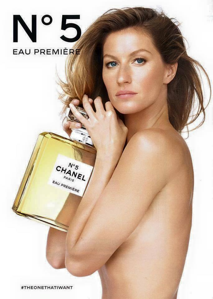Gisele Bundchen goes topless in Chanel No. 5 ad campaign for 2015.
