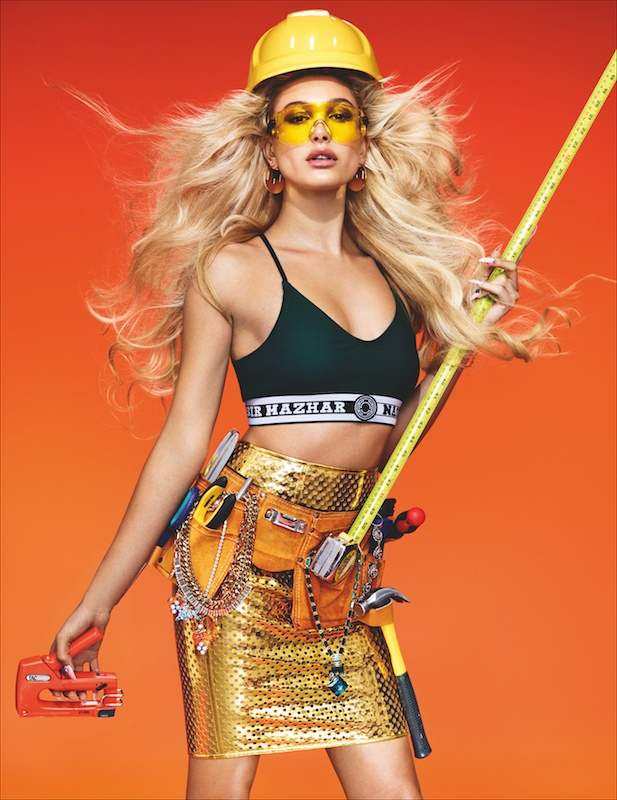 Hailey Baldwin is a Woman at Work for Wonderland