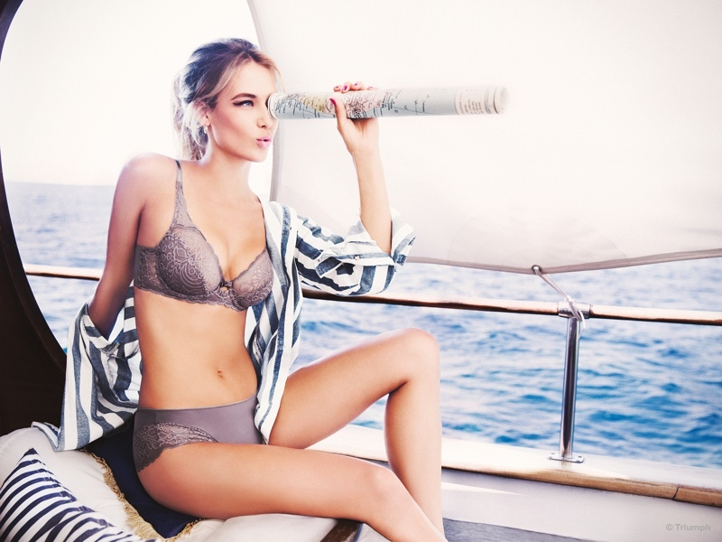 Hannah Ferguson Has Fun on the Sea for Triumph Lingerie
