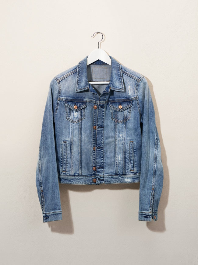 The denim trend continues with a jean jacket