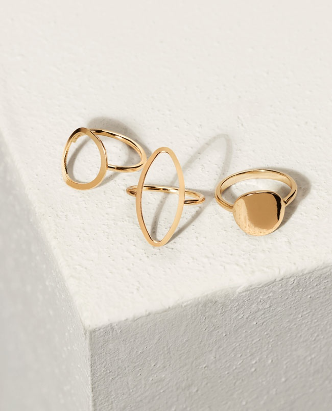Artisanal jewelry like these gold rings are sure to be must-have accessories