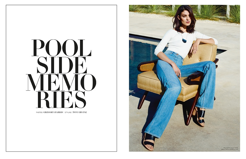 H&M Magazine puts the spotlight on poolside style for its spring 2015 issue.