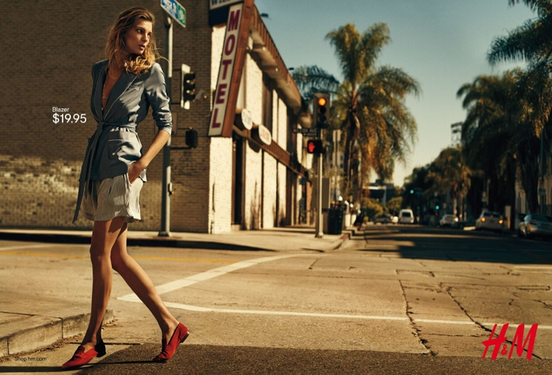 Daria Werbowy has landed the spring-summer 2015 campaign from H&M.