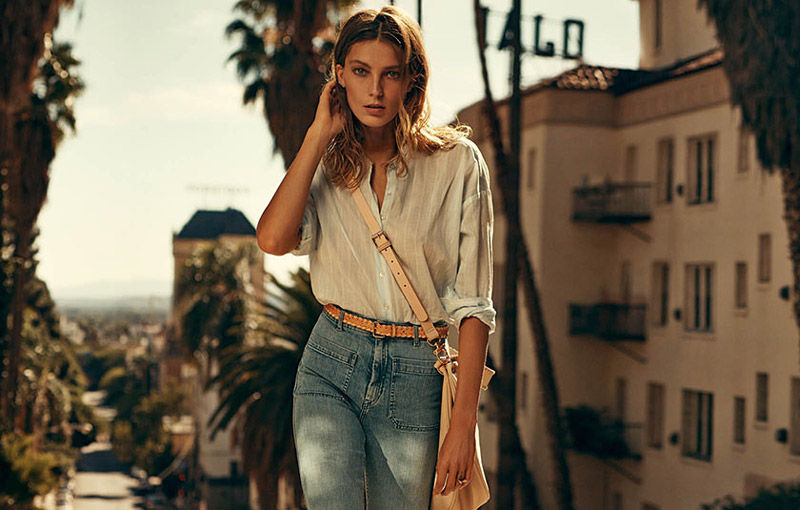 Daria Werbowy stars in H&M's spring 2015 campaign. Photo: Mikael Jansson