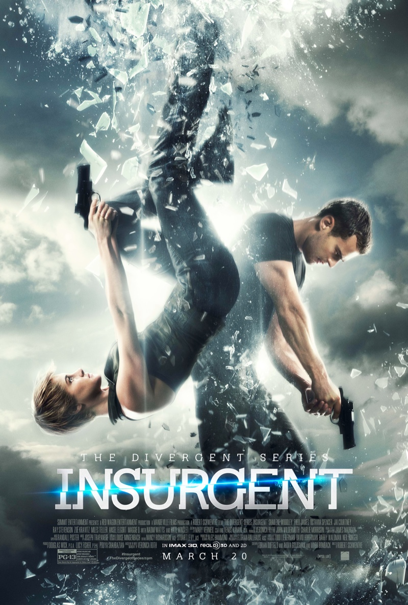 'Insurgent' 2015 movie poster starring Shailene Woodley and Theo James