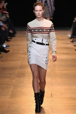 Isabel Marant Pairs High-Waist Looks with Boxy Sweaters for Fall 2015