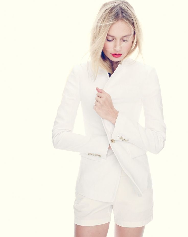 A regent blazer in linen is one of J. Crew's latest offerings.
