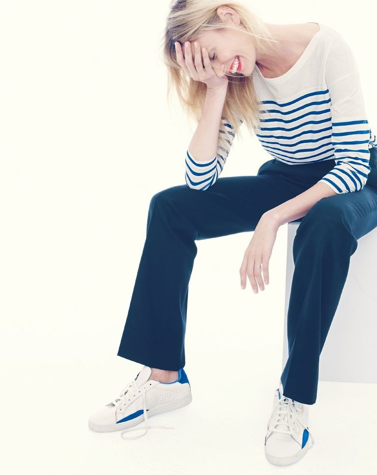 J. Crew gets nautical with blue stripes for spring.