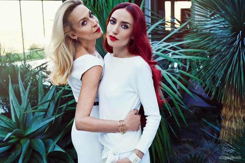 Jerry Hall and daughter Lizzy Jagger model for Reserved.