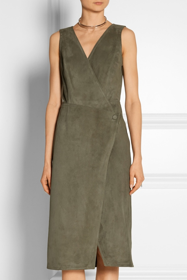 Combing the two 1970s trends of a wraparound dress and suede, Jason Wu creates a ladylike look inspired by the decade. Available at Net-a-Porter.