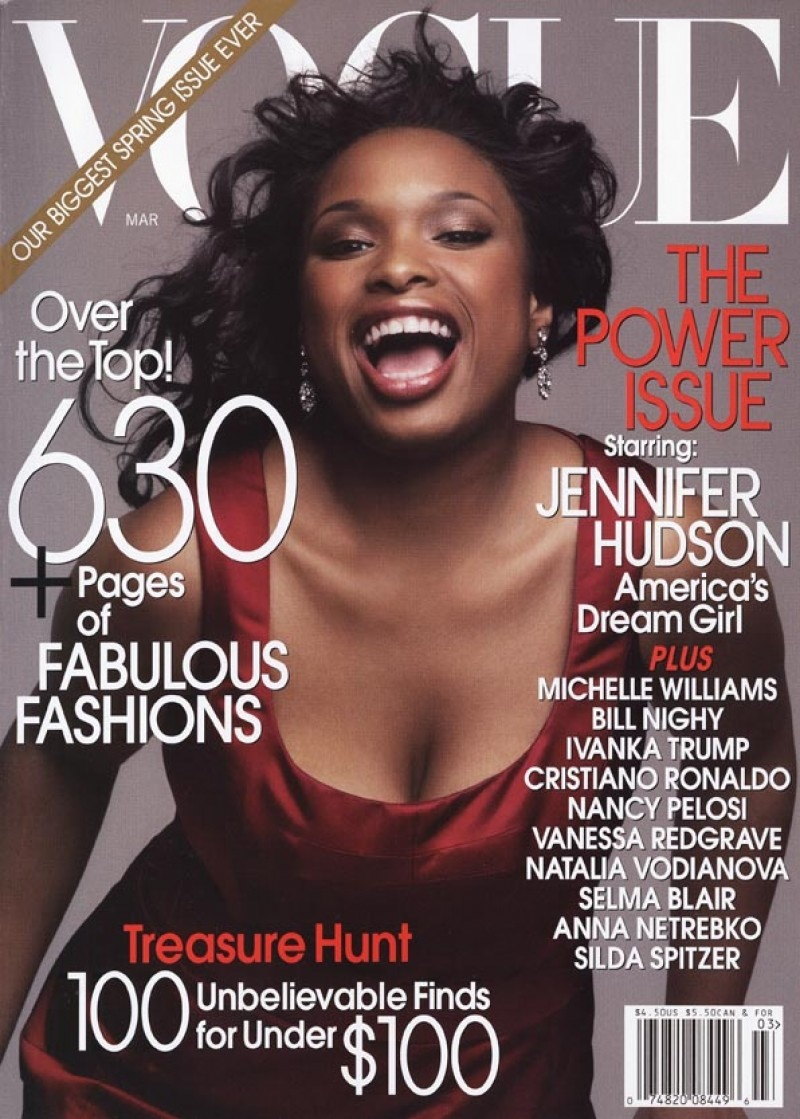 Jennifer Hudson starred on the March 2007 of Vogue after winning her Oscar for Best Supporting Actress in 'Dream Girls'.