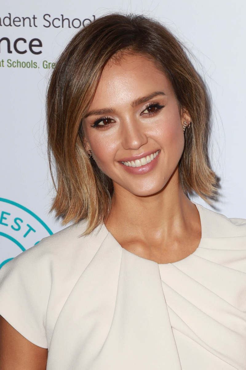 Beauty Makeup Bob Length Jessica Alba Bob Hairstyle Short Length Hairstyl