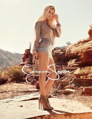 Jessica Simpson Models Daisy Dukes in Spring 2015 Clothing Ads