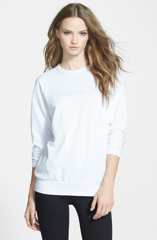 Joan Smalls x True Religion  'Don't Believe Me, Just Watch' Sweatshirt available for $138.00