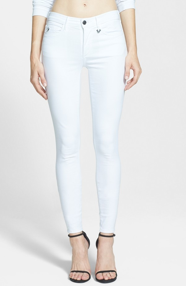 Joan Smalls x True Religion Jeans Mid Rise Leggings in White available for $218.00