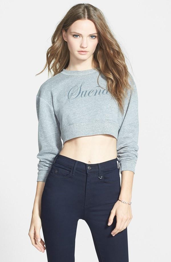 Joan Smalls x True Religion 'Sueña' Sweatshirt available for $118.00