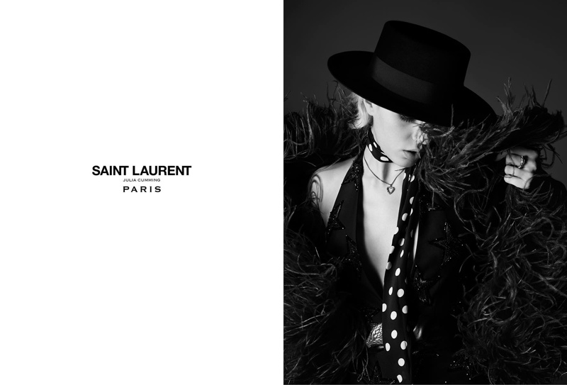 c32734ae Rocker Julia Cumming Stars in Saint Laurent Spring '15 Ads | Fashion ...
