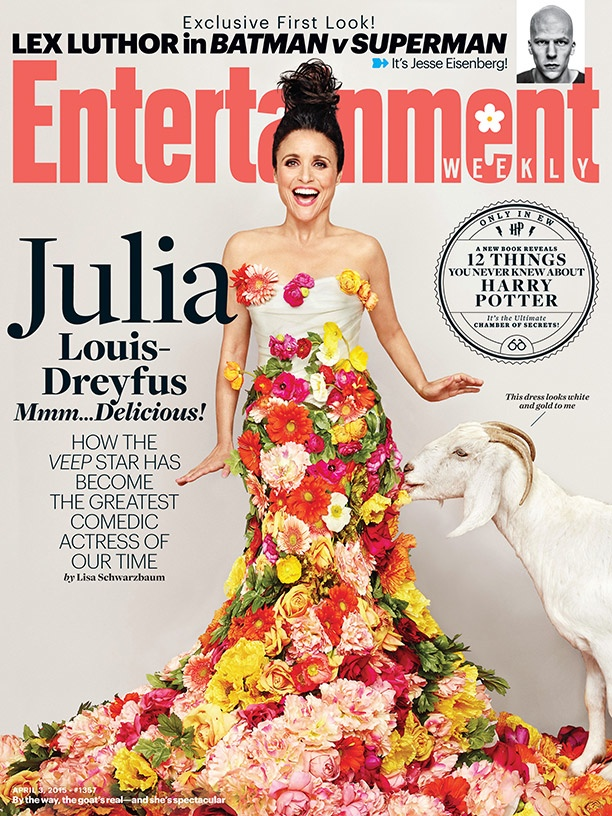 Julia Louis-Dreyfus graces the April 3, 2015, cover from Entertainment Weekly.