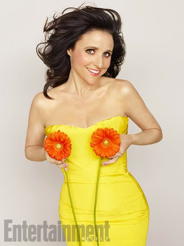 Julia Louis-Dreyfus is in Full Bloom for EW + Talks 'Veep' Hairdo
