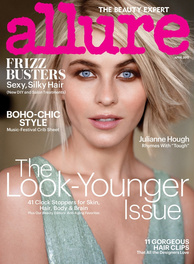 Julianne Hough graces the April 2015 cover of Allure Magazine