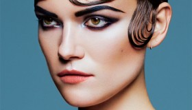 Kasia tries on modern finger waves for this image.