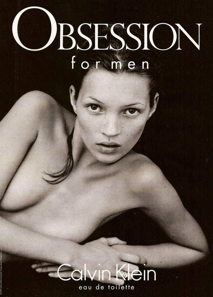 Kate Moss was in yet another controversial Calvin Klein campaign for their 'Obsession' fragrance for men--shot in 1993. Photographed by Mario Sorrenti, many felt the ads promoted the Heroine Chic look of the time.
