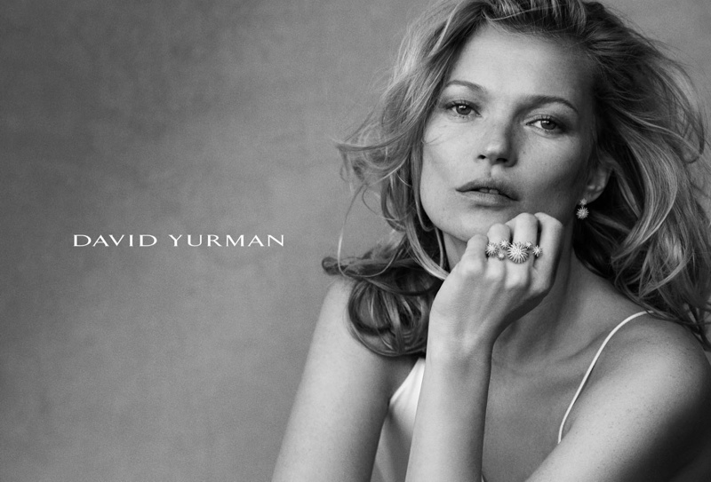 Kate Moss has been modeling for David Yurman on and off since 2004
