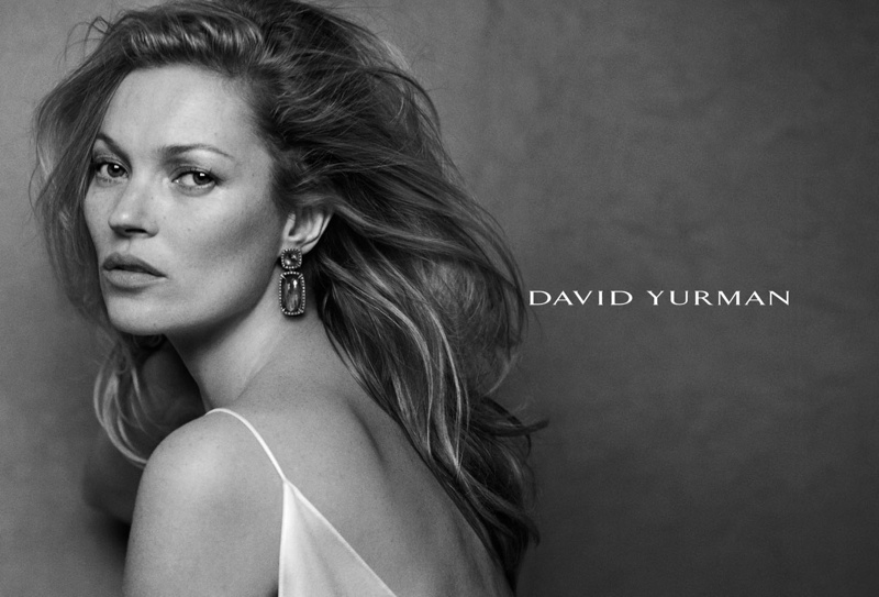 The British supermodel wears minimal makeup and an understated hairstyle for the advertisements