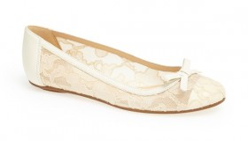 kate spade new york Banner Lace & Leather Flat available for $223.50
