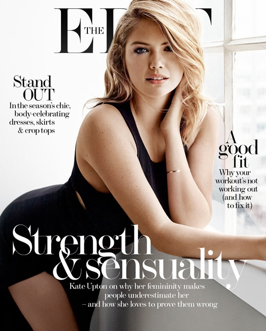 Kate Upton poses on the March 19, 2015, cover of The Edit.
