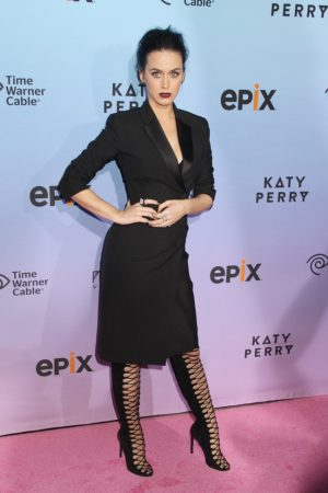 Katy Perry Rocks the Tuxedo Dress at 'Prismatic' Screening