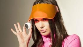 Kendall Jenner behind the scenes at Courrèges x Estée Lauder video shoot