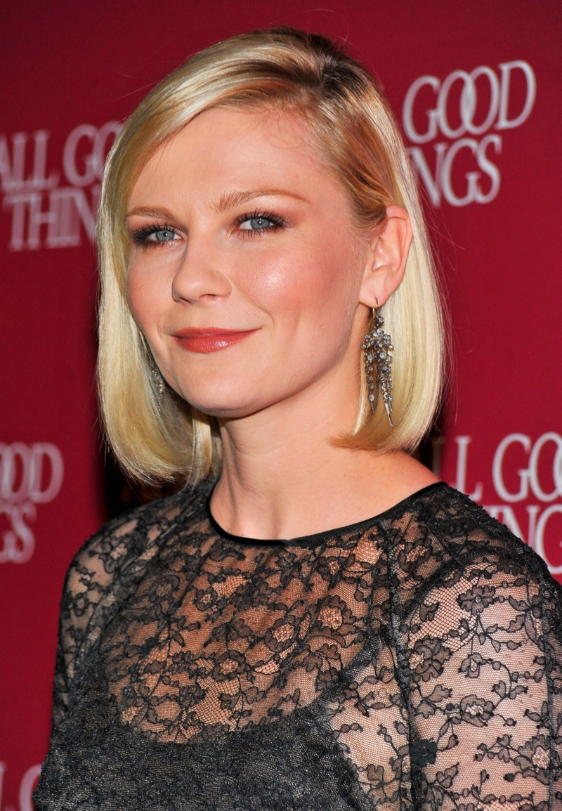 Actress Kirsten Dunst wears a sleek bob hairstyle. Photo: Shutterstock.com