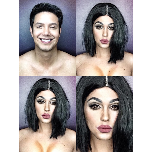 Ballesteros transforms into Kylie Jenner by using makeup and lighting.